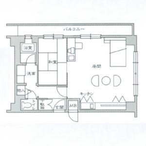 広い単身赴任の家具付き賃貸