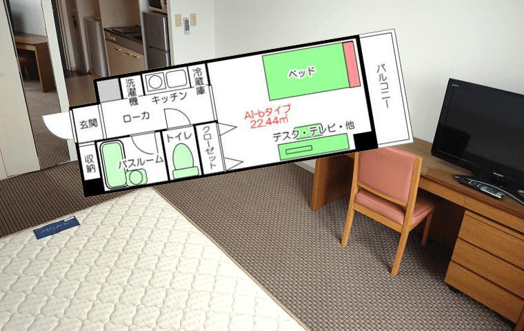 江坂で単身赴任家具付き